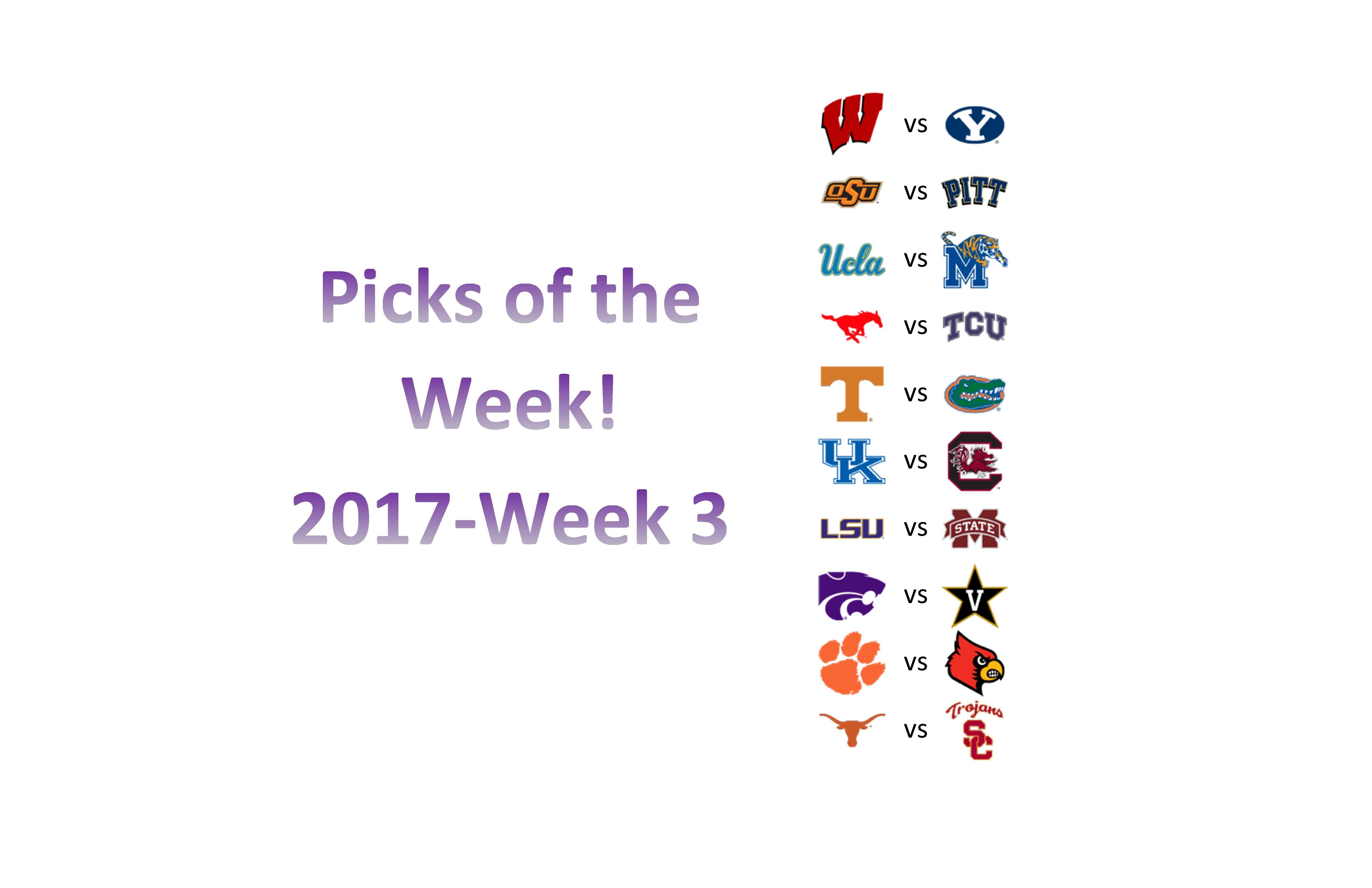 2017 – Week 3 Picks
